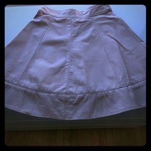 bebe nude leather mini skirt, like new